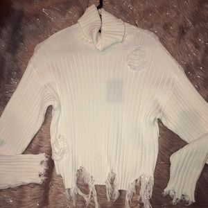 Destroyed turtleneck sweater 🐭